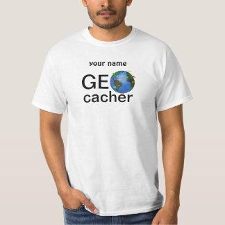 Tierra de Geocacher con el personalizado de Poleras