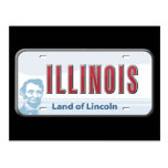 Tierra de Illinois de la postal de Lincoln