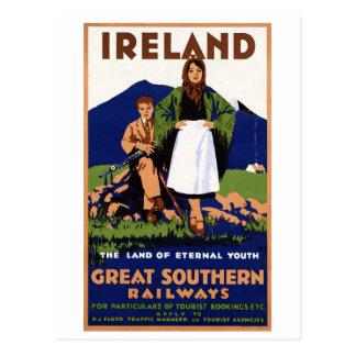 Tierra de Irlanda del vintage eterno de la Postal