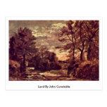 Tierra de John Constable Tarjeta Postal
