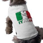 Tierra de la bandera de Italia Camisetas De Perro