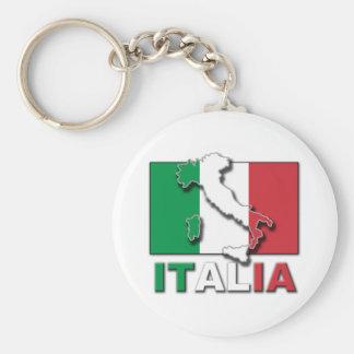 Tierra de la bandera de Italia Llavero Redondo Tipo Pin