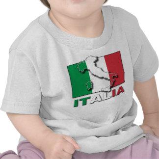 Tierra de la bandera de Italia Camisetas