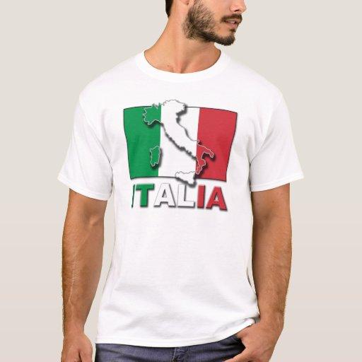 Tierra de la bandera de Italia Playera