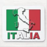 Tierra de la bandera de Italia Tapetes De Ratón