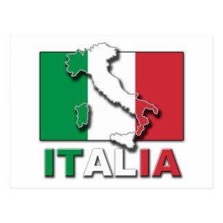 Tierra de la bandera de Italia Tarjetas Postales