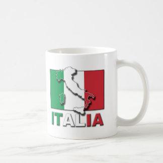 Tierra de la bandera de Italia Taza De Café