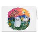 Tierra de la fantasía (FF) - gatito persa (blanco) Tarjetas