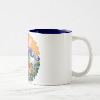 Tierra de la fantasía (FF) - gato de Coon de Maine Tazas De Café