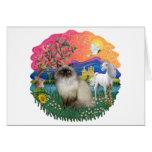 Tierra de la fantasía (FF) - gato de Himilayan Felicitacion