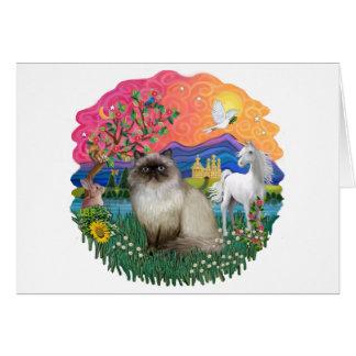 Tierra de la fantasía (FF) - gato de Himilayan Tarjeta De Felicitación