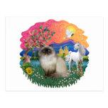 Tierra de la fantasía (FF) - gato de Himilayan Postal