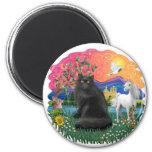 Tierra de la fantasía (FF) - gato persa (negro) Iman