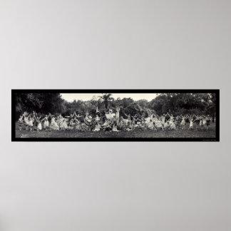 Tierra de la foto 1920 de la danza de las flores impresiones