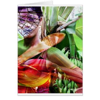 tierra de la fruta del vuelo de la fruta tarjeta de felicitación