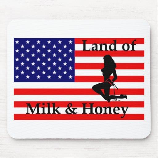 """Tierra de la leche y de la """"miel """" alfombrillas de raton"""