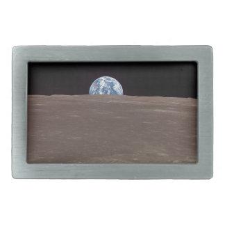 Tierra de la luna hebilla de cinturon rectangular
