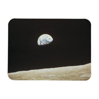 Tierra de la luna imanes de vinilo