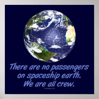 Tierra de la nave espacial, ambiente impresiones