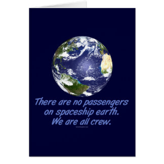 Tierra de la nave espacial, ambiente tarjeta de felicitación