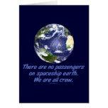 Tierra de la nave espacial, ambiente tarjetas