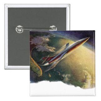 Tierra de la nave espacial del aeroplano de la cie pin