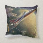 Tierra de la nave espacial del aeroplano de la almohadas