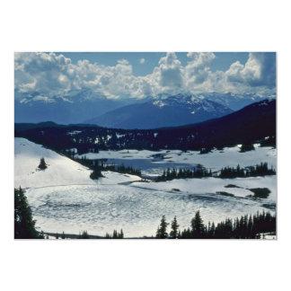 """Tierra de la nieve invitación 5"""" x 7"""""""
