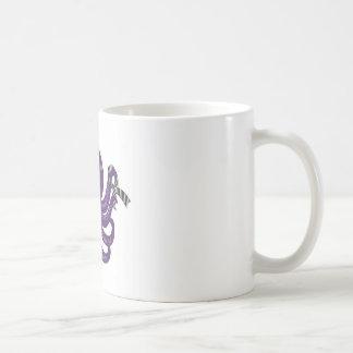 Tierra de la parte posterior del blanco del pulpo tazas de café