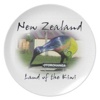 Tierra de la placa del kiwi plato de comida