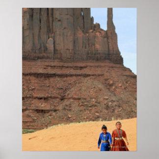 Tierra de la reserva de Navajo Poster