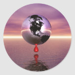 Tierra de la sangría pegatina redonda