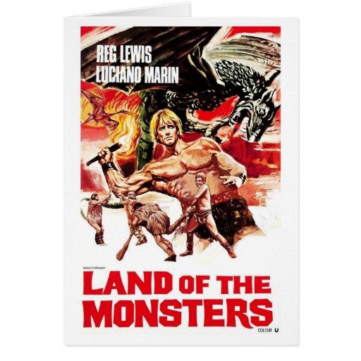 Tierra de la tarjeta de los monstruos