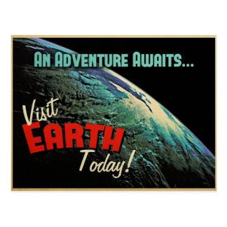 ¡Tierra de la visita hoy! Tarjeta Postal