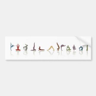 tierra de la yoga pegatina de parachoque