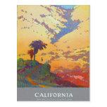 Tierra de las vacaciones de California América Tarjeta Postal