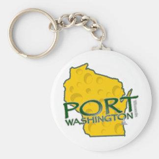 Tierra de los WI de Washington del puerto del Llavero Redondo Tipo Pin