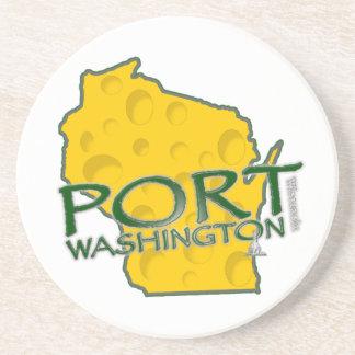 Tierra de los WI de Washington del puerto del Posavasos Personalizados