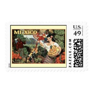 tierra de México del esplendor tropical Timbre Postal