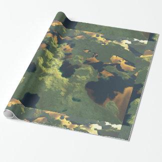 Tierra de mil lagos papel de regalo