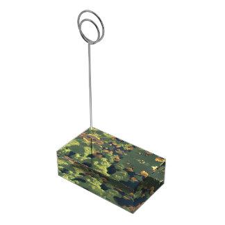Tierra de mil lagos soportes de tarjeta de mesa