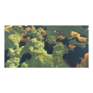 Tierra de mil lagos tarjeta fotografica personalizada