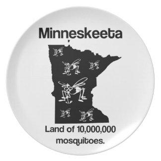 Tierra de Minneskeeta de la placa divertida del ma Platos