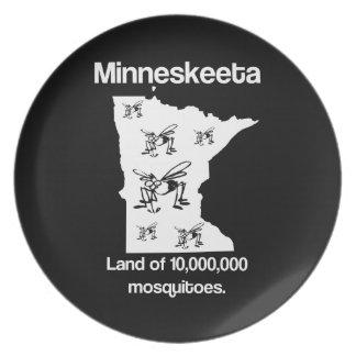 Tierra de Minneskeeta de la placa divertida del ma Platos Para Fiestas