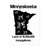 Tierra de Minneskeeta de la postal divertida del m