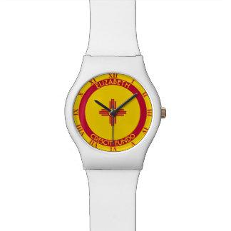 Tierra de New México del blanco personalizado del Relojes De Mano