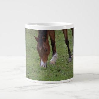 tierra de pasto marrón del caballo equine.JPG Taza Grande