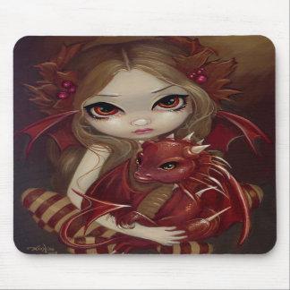 """""""Tierra de Siena Dragonling"""" Mousepad"""