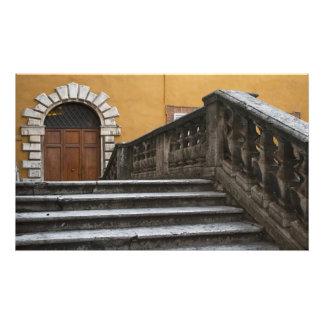 Tierra de Siena, Toscana, Italia - opinión de ángu Arte Fotografico