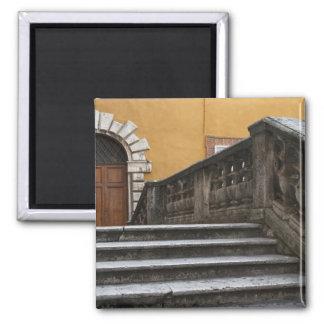 Tierra de Siena, Toscana, Italia - opinión de ángu Imán Cuadrado